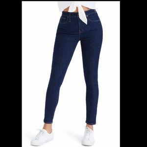 Madewell tall curvy high rise skinny jeans
